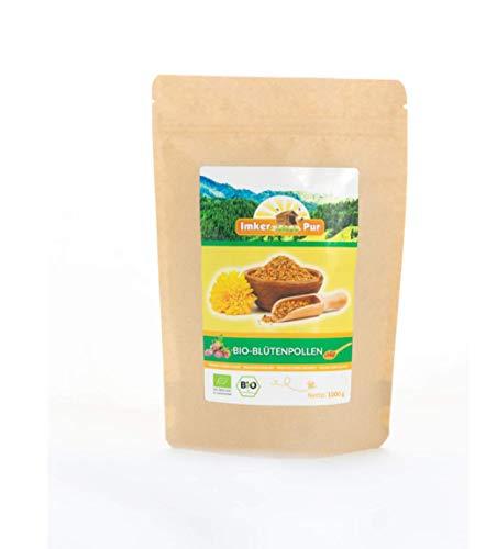 Biologisch bloemenstuifmeel / bijenstuifmeel in premium kwaliteit, van ImkerPur, 500 g, volledig residu-vrij, zoetig-zacht, oogst 2019