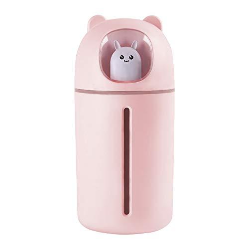 HBRE Nano PulvéRisateur De Brume pour La Peau,USB Humidificateur Nettoyage Pores Soins OpéRation Silencieuse Nano Jet d'eau 350 ML,Humidificateur Facial Vapeur Hydratant Hydratant,Pink
