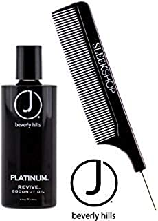 J Beverly Hills PLATINUM Revive COCONUT OIL (with Sleek Steel Pin Tail Comb) (3.5 oz / 100 ml)