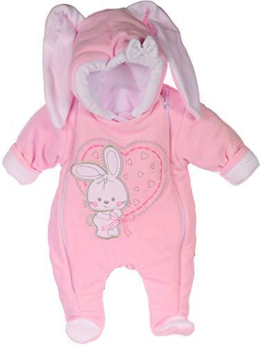 A&O Wagenanzug Baby Overall Anzug Schneeanzug Nicki Baby Einteiler 50 56 62 68 Rosa (50-56)