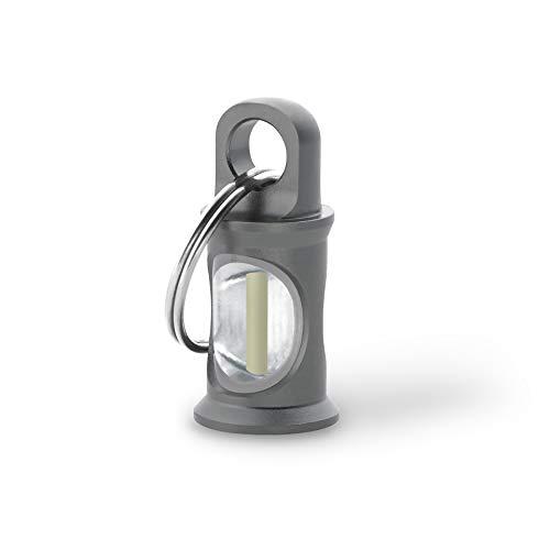 KHS TRIGATAG® KHS.TTGRA3.SR1 Anhänger grau mit H3-Tritium-Gaslichtquelle, inkl. Schlüsselring