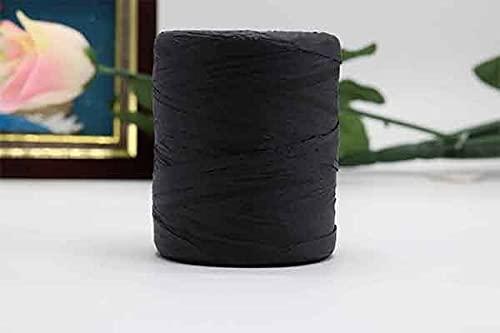 ONWA Hilo de Rafia de algodón de 180 M para Tejer a Mano Sombreros de Verano Bolsos de Punto de Ganchillo DIY Hecho a Mano Hilo de Hilo de Punto