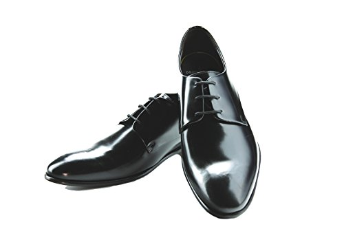 Prime Shoes Flexible Orlando Schnürschuh Patent Black Lack Schwarz aus feinstem Kalbsleder Sacchetto 8