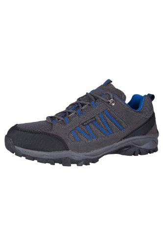 Mountain Warehouse Zapatillas Path para Hombre - Zapatillas Impermeables para el Gimnasio, Botas de montaña con Forro de Malla y Gran Agarre - para Agarre y Estabilidad Gris Oscuro 41