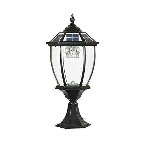 Continental Outdoor Glass Solar Energy Column Lamps Modern Waterproof...