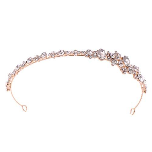 Amosfun Novia Rhinestone Corona de la Boda Tiara Diamond Hair Hoop Headwear...