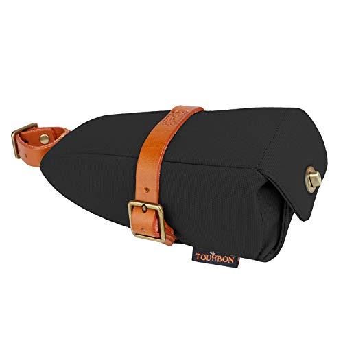 Tourbon Wasserdichtes Segeltuch und Leder Fahrrad Satteltasche Sitz Pack Fahrrad Tasche