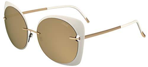 Schwarzkopf Sonnenbrillen Silhouette ACCENT SHADES 8164 TRANSPARENT WHITE/BROWN GOLD Damenbrillen