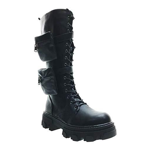 Toocool Botas de mujer con cordones G651 Negro Size: 41 EU