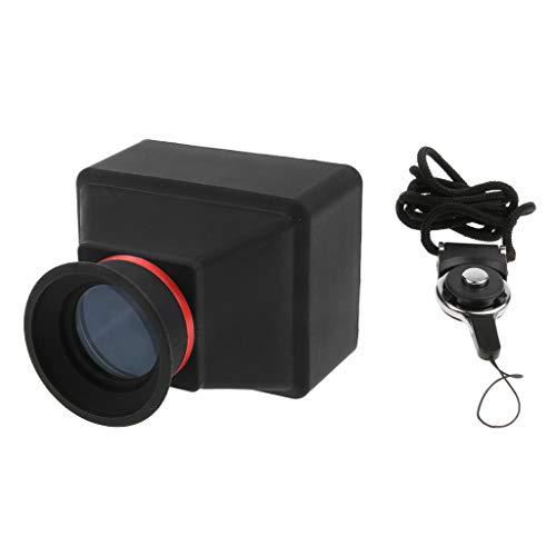 perfk 3X LCD Viewfinder Displaylupe Sucherlupe mit Riemen für 3 Zoll / 3,2 Zoll Display, für DSLR Kamera - 3,0 Zoll