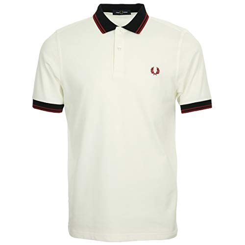 Fred Perry Contrast Trim Polo Shirt, Blanco (Snow White 129)