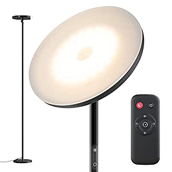 Floor Lamp,30W Sky Super Bright 2800K-7000K Torchiere Floor Floor Lamp with Timer 2800lumens LED Floor Lamp with Stepless Dimmer&4 Color Temperatures,Standing Lamp for Living Room,Bedroom,Office