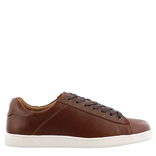 Vionic Men's Mott Baldwin Lace-up Sneaker - Casual Everyday Shoes for Men with Concealed Orthotic Support Dark Brown 7 Medium US