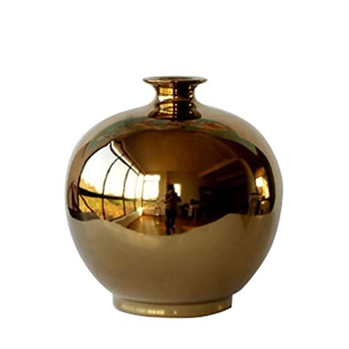 Jarrones creativos para el hogar, regalo de inauguración de la casa, sala de estar, jarrones de cerámica vintage (tamaño: 19 x 21 cm, color: E)