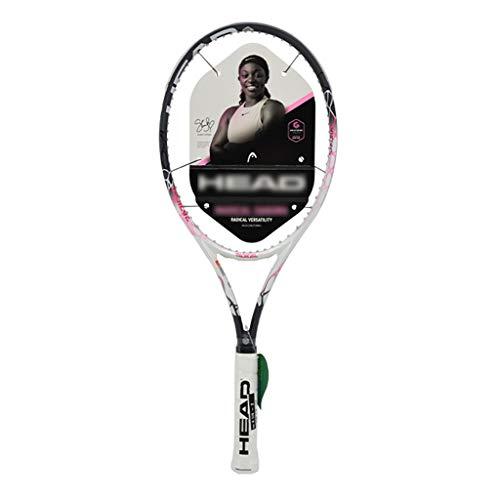Racchetta da tennis Donna Singola in Fibra di Carbonio Professionale Ammortizzatore Quadruplo (Color : Pink, Size : 27in)