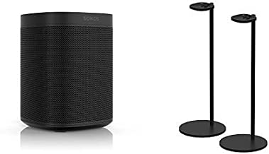 All-New Sonos One Two Room Set with Pair of Stands. The Smart Speaker for Music Lovers with Amazon Alexa Built-in for Wire...