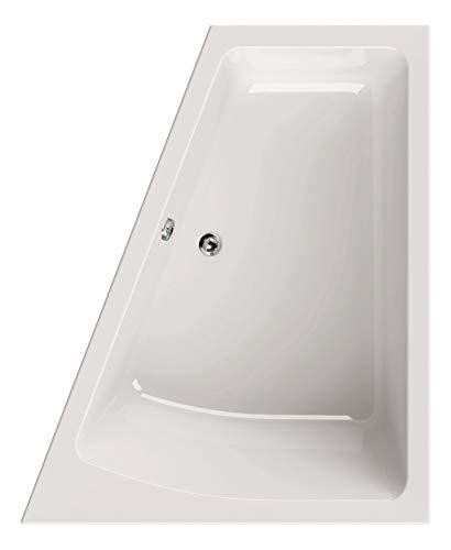 Calmwaters® Raumsparende Eckbadewanne 170x140 cm, Acrylwanne Modern Plus, Duo-Badewanne für 2 Personen, platzsparende Badewanne, linke Ausführung, Maße 170 x 140 cm, Eck-Badewanne Weiß, 02SL3332