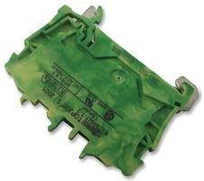 Preisvergleich Produktbild WAGO 2001-1207 Schutzleiterklemme 4.20 mm Zugfeder Belegung: PE Grün,  Gelb 1 St.