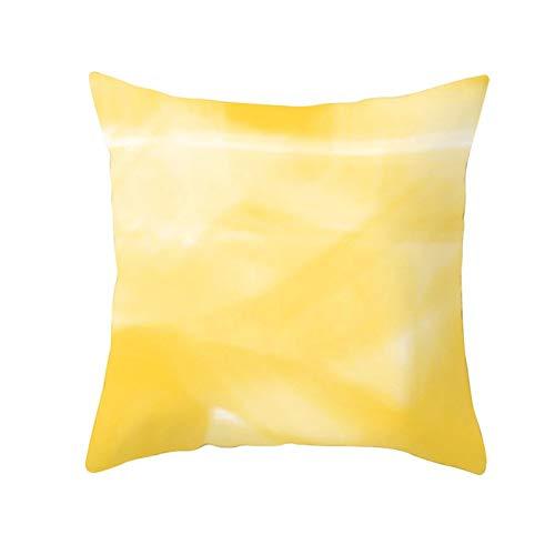 LIUXU Creative - Funda de almohada de microfibra amarilla con diseño de hojas de piña y antiarrugas