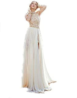 Beige Polyester Special Occasion Dress For Women