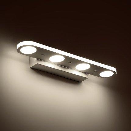 Lightess LED ブラケットライト led 洗面ライト ウォールライト 高輝度 省エネ 壁付け照明 浴室 トイレ 洗面所ライト キッチン 室内照明(4灯12W-38cm)
