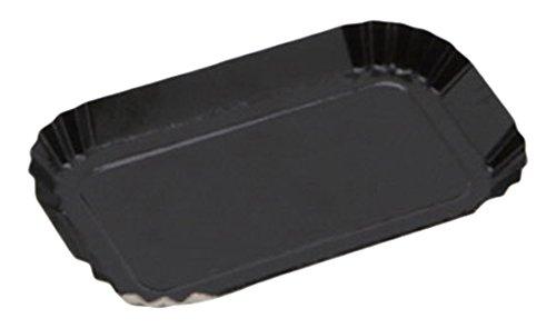 Garcia de pou 100 unité Boîte de Mini Assiettes en carrée, 5.5 x 5.5 cm, Carton, Noir, 30 x 30 x 30 cm