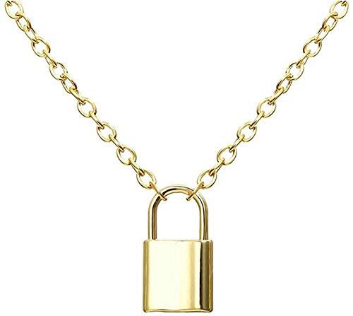ZQMC Collar Colgante con candado y Llave Collares de Pareja para Mujeres y Hombres Collar de Promesa de Amistad de Amor Romántico