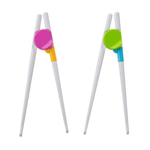 Healifty Essstäbchen 2 Pairs Training Stäbchen Lernen Essstäbchen Set Helfer Rechts oder Linkshänder für Kinder Erwachsene Anfänger