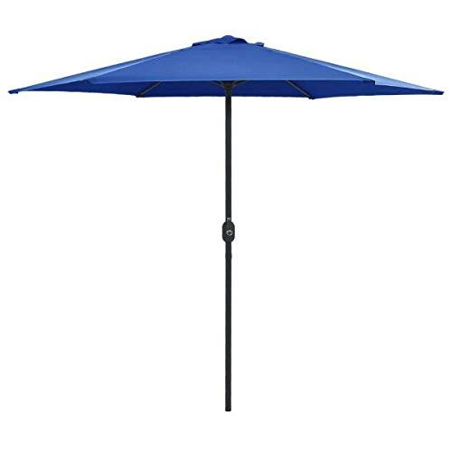 vidaXL Sombrilla de jardín con palo de aluminio azul celeste 270x246cm