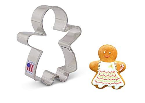 Formina per biscotti a forma di donna di marzapane Ann Clark Cookie Cutters, 9,6 cm