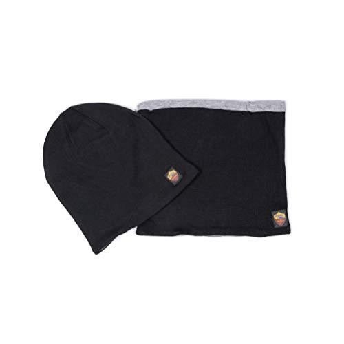 As Roma Junior Jersey, hoed en halswarmer voor kinderen, zwart, UNICO