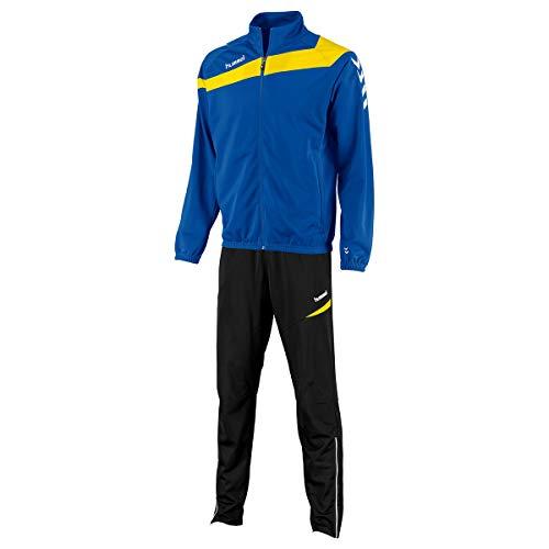 hummel Herren Trainingsanzug Elite Poly Sportanzug Royal/Yellow Größe XL