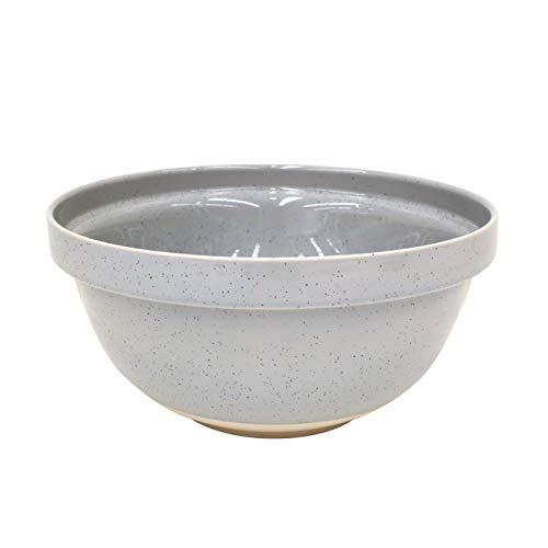 Casafina Fattoria Collection Stoneware Ceramic Large Mixing Bowl 12.25'/211 oz, Grey