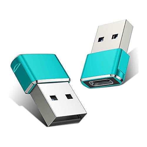 1 adaptador USB C hembra a USB macho, tipo C a un adaptador de cable cargador para carga o transferencia de datos, hasta 480 Mbps velocidad de transmisión, compatible con iOS Tablet Computer