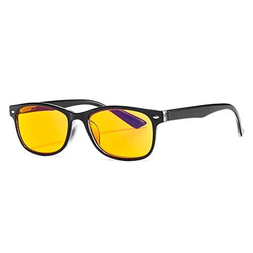 Suertree Blaulicht Brille 95% Anti-blaulicht Lesebrille Gelbe Brille UV-Schutz Computerbrille Game Brille für PC 0.0X BM163