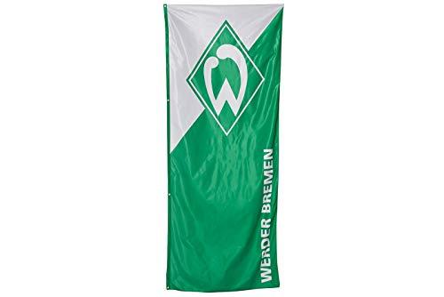 SV Werder Bremen Hissfahne, Fahne Grün-Weiß in 120 x 300 cm