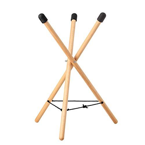 Soporte para batería Pad de práctica etéreo tambor, ajustable, triangular, de madera maciza, Snare Stand, tambor esencial soporte ajustable triangular trampa estand de madera blanda