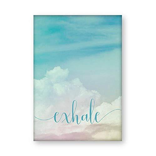 Póster Inhalar Exhalar Cartel Motivacional Yoga Meditación Impresiones Decoración Para El Hogar Z Arte Respirar Lienzo Pintura Pilates Wall Pictures 16X20Inch(40X50Cm)