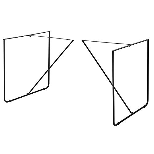 [en.casa] Conjunto de Patas de Mesa Set de 2X Patas de Mesa 79,5 x 62 x 73 cm Armazon de Mesa Negro