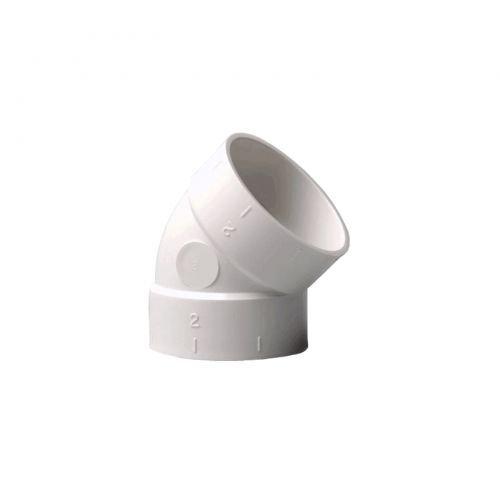 Bogen 45° für Zentralstaubsauger Vakuumrohrsystem, 2-Zoll (50,8mm)