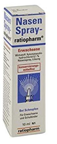 Ratiopharm Nasenspray Erwachsene 10er Sparset (10 x 15ml) Wirkstoff Xylometazolinhydrochlorid für Erwachsene und Schulkinder