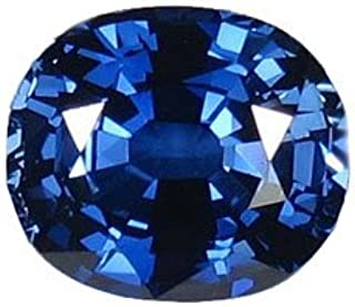 Blue Created Oval Sapphire Unset Loose Gemstone 11mm