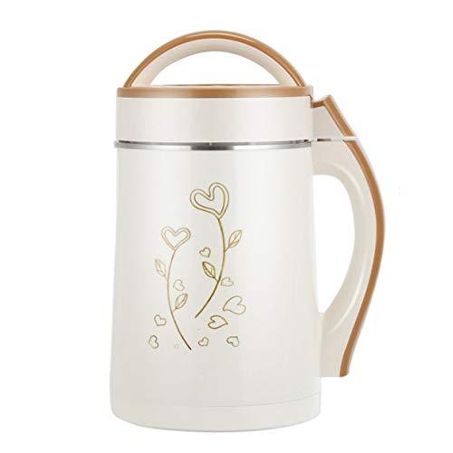 Mdsfe Sojabohnenmilchmaschine mit großer Kapazität Gemüsesaft-Extraktor Frühstück Reispastenmaschine Heizen und Filtern - Golden, 220V