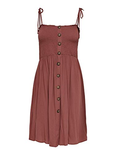 ONLY Damen ONLANNIKA S/L Smock Dress WVN NOOS Kleid, Apple Butter, 40