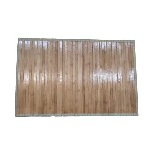 JTKJ Alfombra De Piso Alfombra De Bambú Manta Baño Dormitorio Madera Natural Plegable Y Curvable Adecuada Para Uso En Interiores Y Exteriores Pintura Ligera Carbonizada 50 * 80 Cm