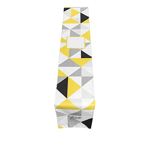 Mantel para mesa nórdica, moderno, minimalista, color amarillo y negro, de tela para armario, café, 30 x 160 cm, MXJ61 (diseño: A, tamaño: 30 x 200 cm)