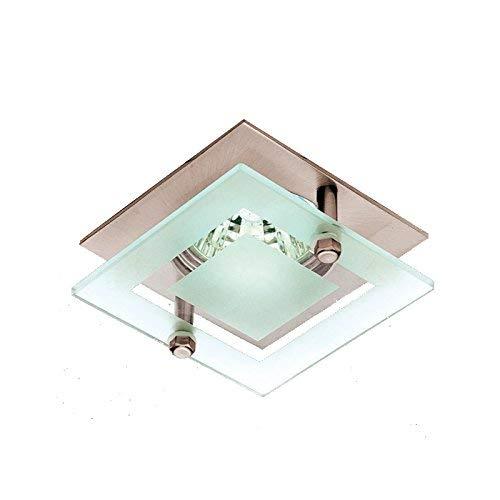 Lampenlux LED-Einbaustrahler Spot Sato Glas rostfrei nickel 7.5x7.5 cm MR16 12V Einbauleuchte Einbaulampe Einbauspot Spot Strahler Punktstrahler Aluminium Downlight Down