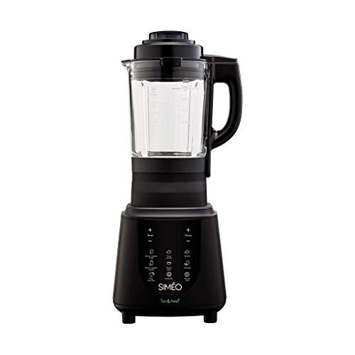 Simeo bcv600 Mixeur en verre 1.75L 1500 W Noir – Blender (Mixeur en verre, 1,75 l, noir, toucher, verre, acier inoxydable)