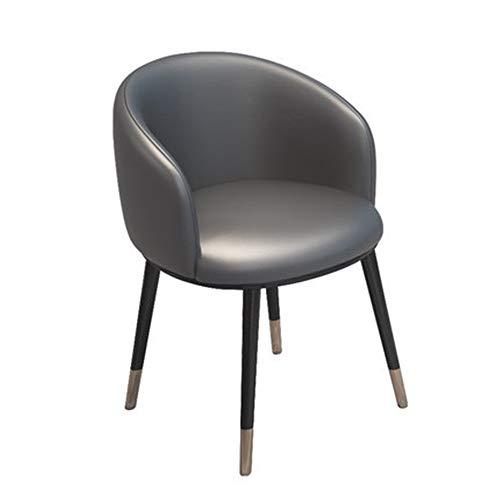 Moderne minimalistische bureaustoel voor volwassenen, antislip, duurzaam, donkergrijs