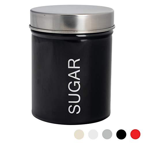 Harbour Housewares Boîte à Sucre métallique Couleur Noir